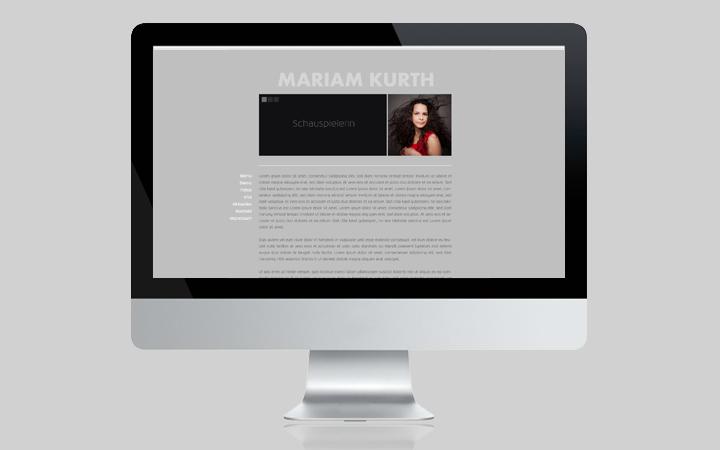 Webdesign Schauspielerin Mariam Kurth 2