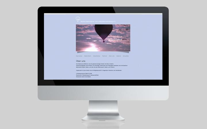 Webdesign Berliner Ballonfahren BBLVEV