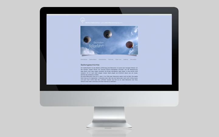 Webdesign Berliner Ballonfahren BBLVEV 2